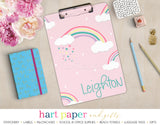 Rainbow Personalized Clipboard School & Office Supplies - Everything Nice