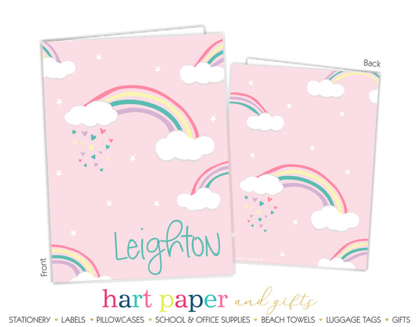 Rainbow Personalized 2-Pocket Folder