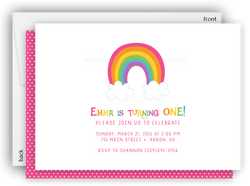Rainbow Party Invitation • Baby Shower Birthday • Any Colors