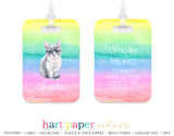 Cat Rainbow Luggage Bag Tag School & Office Supplies - Everything Nice