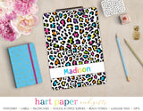 Rainbow Cheetah Print Personalized Clipboard School & Office Supplies - Everything Nice