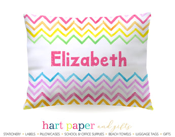 Rainbow Chevron Personalized Pillowcase Pillowcases - Everything Nice
