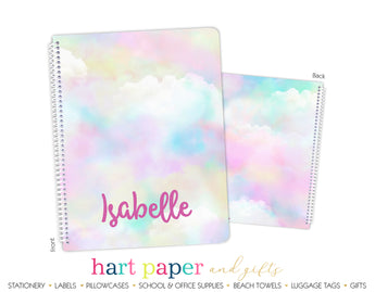 Rainbow Clouds Personalized Notebook or Sketchbook