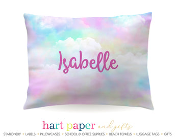 Rainbow Clouds Personalized Pillowcase Pillowcases - Everything Nice