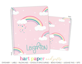 Rainbow Personalized Notebook or Sketchbook School & Office Supplies - Everything Nice