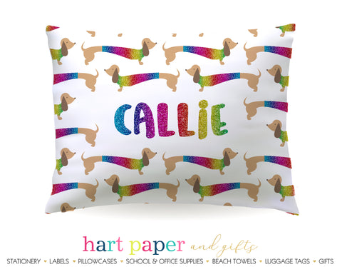 Dachshund Dog Personalized Pillowcase Pillowcases - Everything Nice