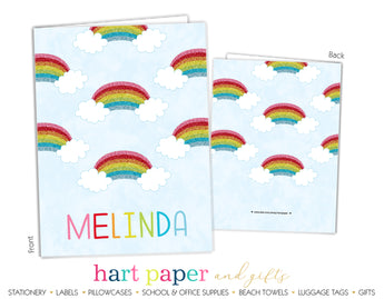 Rainbows Personalized 2-Pocket Folder School & Office Supplies - Everything Nice