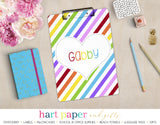Rainbow Hearts & Stripes Personalized Clipboard