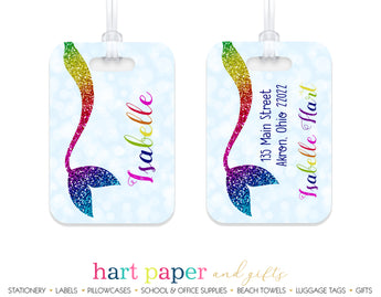 Rainbow Mermaid Tail Luggage Bag Tag School & Office Supplies - Everything Nice