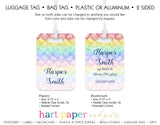 Rainbow Mermaid Scales Luggage Bag Tag School & Office Supplies - Everything Nice