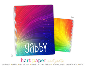 Rainbow Personalized Notebook or Sketchbook
