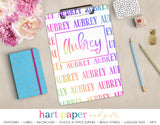 Rainbow Name Personalized Clipboard School & Office Supplies - Everything Nice
