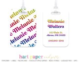 Rainbow Name Luggage Bag Tag School & Office Supplies - Everything Nice