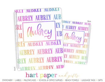 Rainbow Name Personalized Notebook or Sketchbook School & Office Supplies - Everything Nice