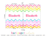 Rainbow Chevron Personalized Notebook or Sketchbook School & Office Supplies - Everything Nice