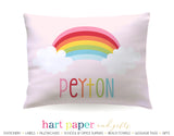 Rainbow Personalized Pillowcase Pillowcases - Everything Nice
