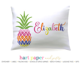 Rainbow Pineapple Personalized Pillowcase Pillowcases - Everything Nice