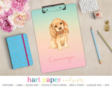 Rainbow Dog Puppy Personalized Clipboard School & Office Supplies - Everything Nice
