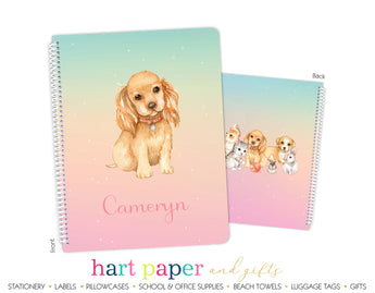 Rainbow Dog Puppy Personalized Notebook or Sketchbook School & Office Supplies - Everything Nice
