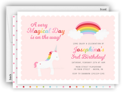 Rainbow Unicorn Party Invitation • Baby Shower Birthday • Any Colors Kids Birthday Invitations - Everything Nice