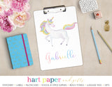 Rainbow Unicorn Personalized Clipboard School & Office Supplies - Everything Nice
