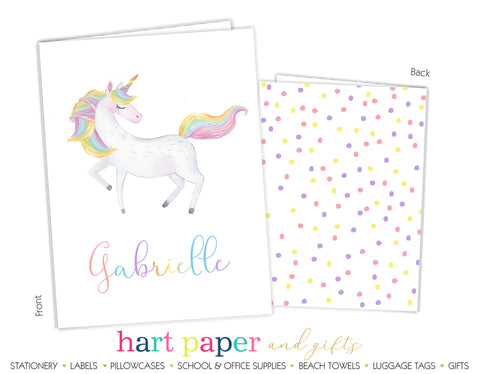 Rainbow Unicorn Personalized 2-Pocket Folder School & Office Supplies - Everything Nice