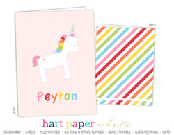 Rainbow Unicorn b Personalized 2-Pocket Folder