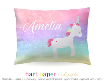 Rainbow Unicorn Personalized Pillowcase Pillowcases - Everything Nice