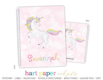 Rainbow Unicorn Personalized Notebook or Sketchbook School & Office Supplies - Everything Nice