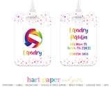 Rainbow Volleyball Luggage Bag Tag School & Office Supplies - Everything Nice