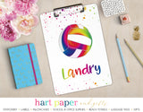 Rainbow Volleyball Personalized Clipboard School & Office Supplies - Everything Nice