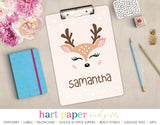 Deer Reindeer Personalized Clipboard School & Office Supplies - Everything Nice