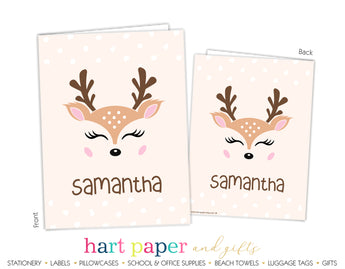 Deer Reindeer Personalized 2-Pocket Folder School & Office Supplies - Everything Nice