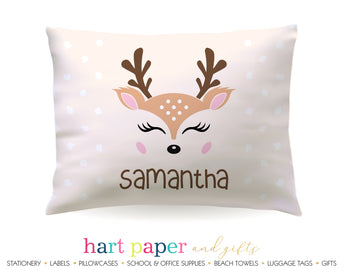 Reindeer Deer Personalized Pillowcase Pillowcases - Everything Nice