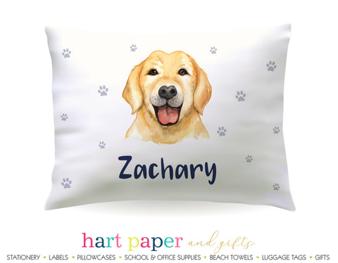 Golden Retriever Dog Personalized Pillowcase Pillowcases - Everything Nice