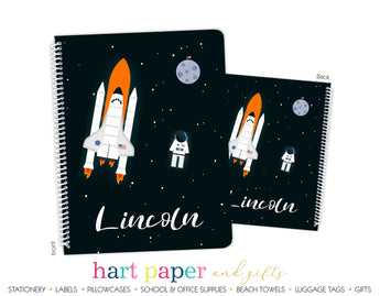 Rocket Ship Personalized Notebook or Sketchbook School & Office Supplies - Everything Nice