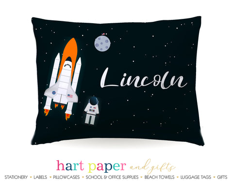Rocket Ship Personalized Pillowcase Pillowcases - Everything Nice