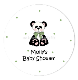 "3"" Round Panda Bear II Favor Labels • Self Adhesive Stickers"