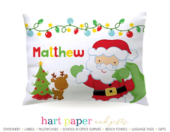 Santa Claus Personalized Pillowcase Pillowcases - Everything Nice