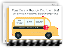 School Bus Party Invitation • Baby Shower Birthday • Any Colors
