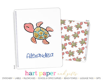 Turtle Personalized Notebook or Sketchbook School & Office Supplies - Everything Nice