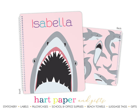 Shark Personalized Notebook or Sketchbook School & Office Supplies - Everything Nice