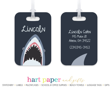Shark Luggage Bag Tag School & Office Supplies - Everything Nice