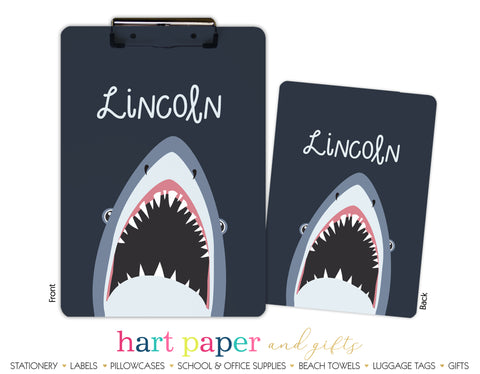 Shark Personalized Clipboard School & Office Supplies - Everything Nice