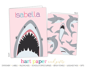 Shark Pink Personalized 2-Pocket Folder School & Office Supplies - Everything Nice