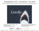 Shark Personalized Pillowcase Pillowcases - Everything Nice