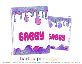 Slime Personalized Notebook or Sketchbook School & Office Supplies - Everything Nice