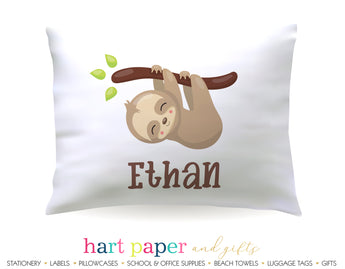 Sloth Personalized Pillowcase Pillowcases - Everything Nice