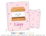 S'mores Hearts Personalized Notebook or Sketchbook School & Office Supplies - Everything Nice