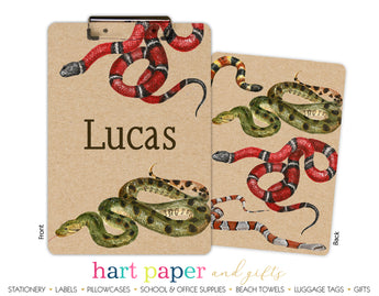 Snakes Personalized Clipboard School & Office Supplies - Everything Nice